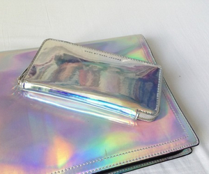 grunge, bag, and holographic image