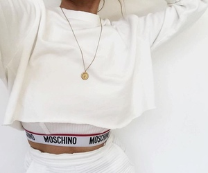 fashion, white, and Moschino image