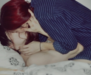bed, boy, and kiss image