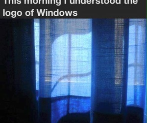 windows, funny, and Logo image