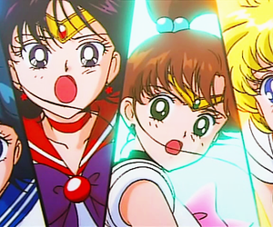 anime, sailor mercury, and sailor mars image