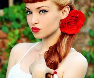 hair, Pin Up, and rockabilly image
