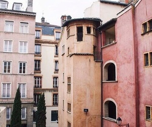 pink, city, and building image