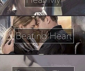 divergent, four, and beating heart image