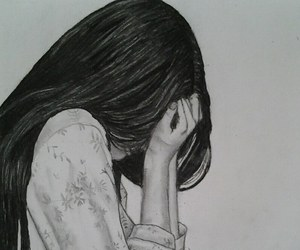 depressed and girl image