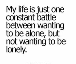quote, alone, and girl image