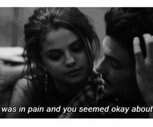 selena gomez, pain, and sad image