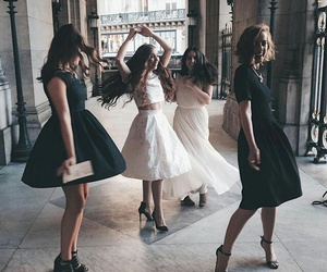dress, girl, and friends image