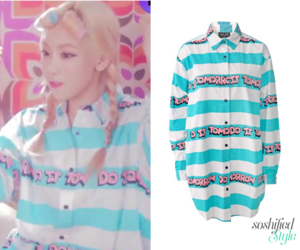 lazy oaf, snsd, and striped shirt image