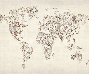 world, art, and map image