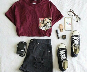 black, converse, and outfit image