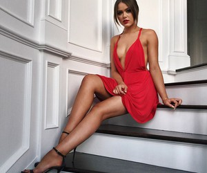 dress, red, and kayture image