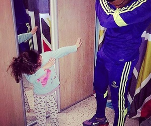dab, daughter, and family image