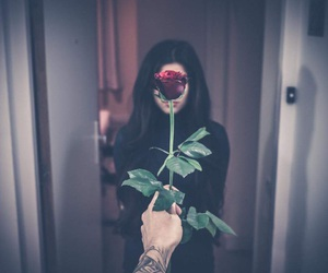 couple, tumblr, and flower image