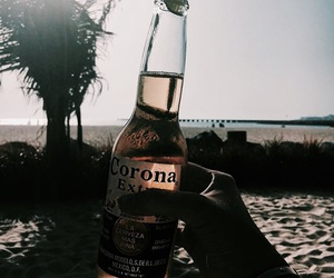 beach, beer, and corona image