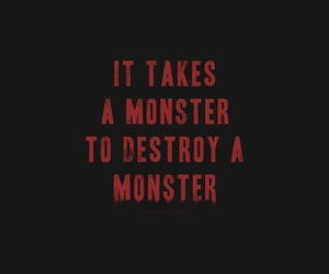 monster, quotes, and red image