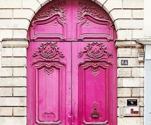 pink, door, and paris image