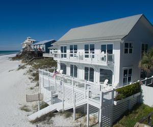 beach, beach house, and dream home image