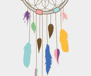 color, drawing, and dreamcatcher image