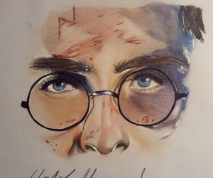 colors, drawing, and harry potter image