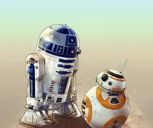 bb-8, star wars, and r2d2 image