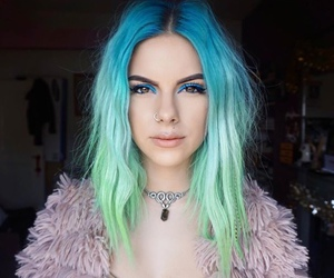 blue hair and color hair image