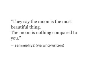 beautiful, moon, and quotes image