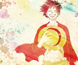 one piece, anime, and luffy image