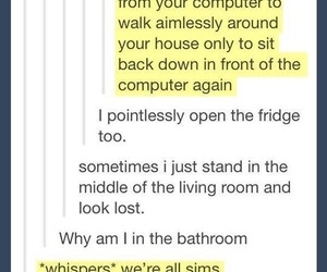 funny, sims, and tumblr image