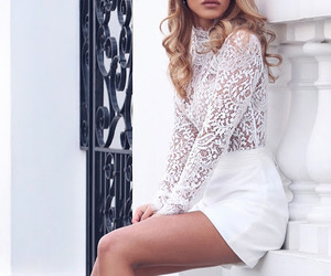 white, style, and blonde image
