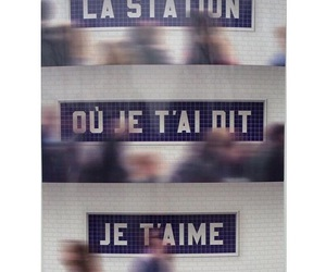 french, station, and love image