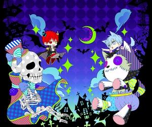 chibi, dark, and Halloween image