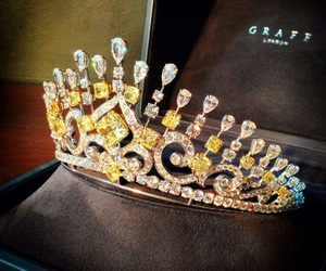 diamond, crown, and luxury image