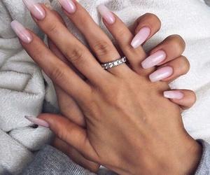 girl, nail, and rings image