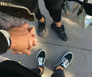 couples, adidas, and vans image