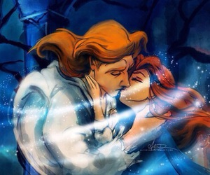 disney, beauty and the beast, and kiss image