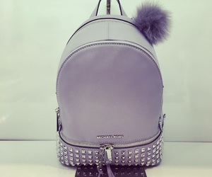 backpack, lavender, and Michael Kors image