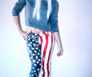 america, blonde, and fashion image