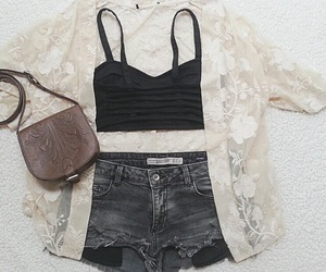 lace, levis, and shorts image