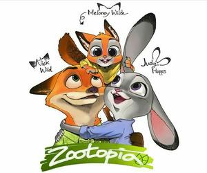 bunny, family, and fox image