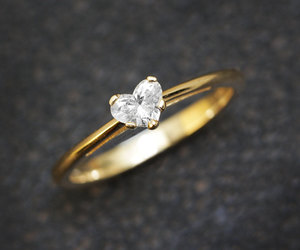 etsy, solitaire ring, and gold image