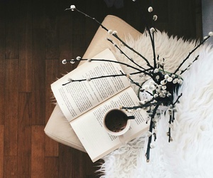 book, coffee, and inspo image