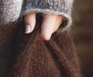 sweater, hand, and winter image