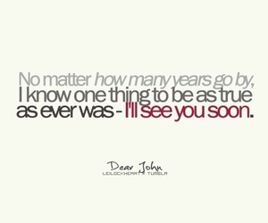dear john, quotes, and love image