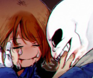 undertale, sans, and frisk image