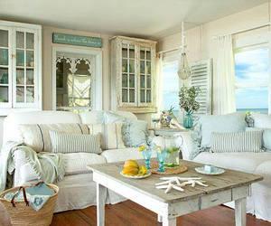 blue, coastal, and cottage image