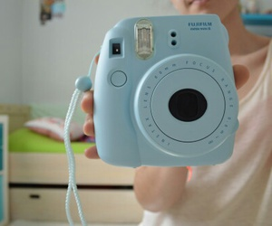 camera and blue image