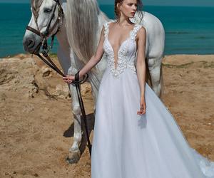 I DO, wedding dress, and beach wedding image