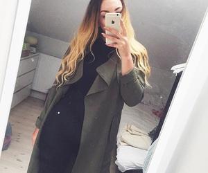 coat, hair, and summer image