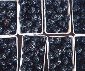 food, berries, and black image